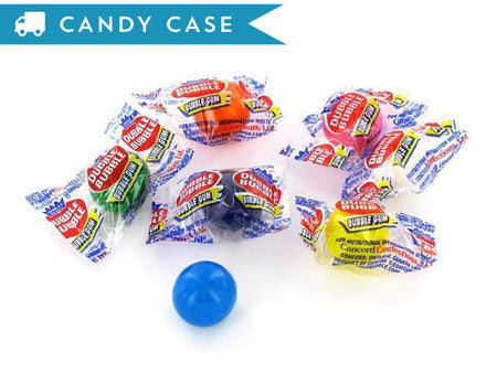 Dubble Bubble Wrapped Gum Balls - bulk 10 lb case (800 ct)