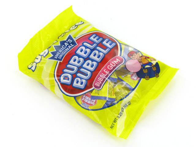 Dubble Bubble Gum - sugar-free - 3.25 oz bag - case of 12
