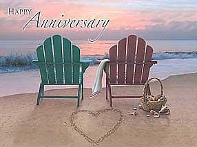 Happy Anniversary Card - Ebb and Flow