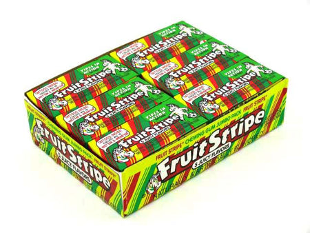 Fruit Stripe Gum - box of 12 packs