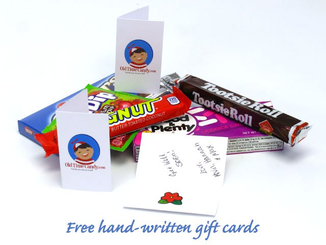 Free, hand-written gift cards