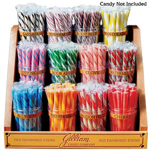 Stick Candy - 12-jar wooden rack (candy not included)