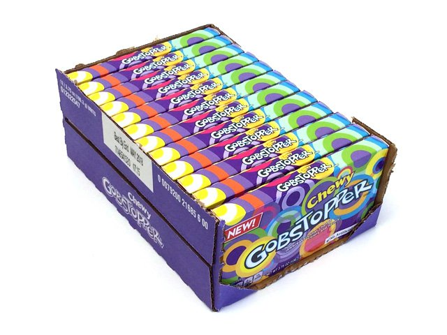Chewy Gobstoppers - 3.75 oz theater box - case of 12