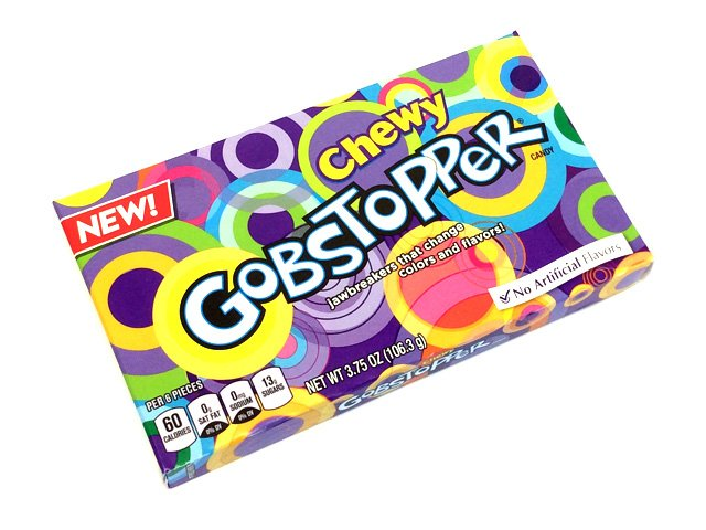 Chewy Gobstoppers - 3.75 oz theater box