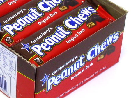Goldenberg's Peanut Chews Original Dark - 2 oz bar - box of 24
