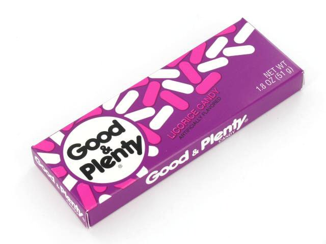 Good & Plenty - 1.8 oz box