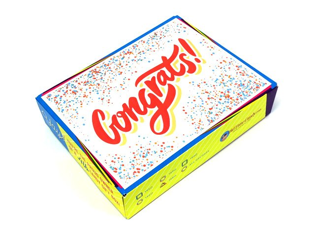Graduation Decade Candy Gift Box - Confetti