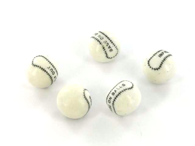 Gumballs - White Home Run Baseballs - wrapped - 1 piece