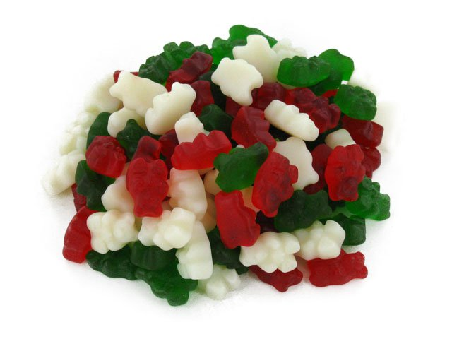 Christmas Gummi Bears - 2 lb bulk bag (256 ct)