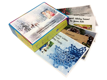 Personalized Happy Holidays Decade Gift Boxes