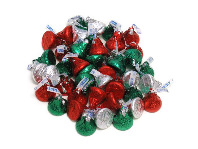 Hershey's Christmas Kisses - 2 lb bulk bag (190 ct)