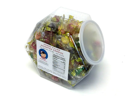 Honey-Filled Assorted Fruit Candies - 2.5 lb Plastic tub (207 ct)