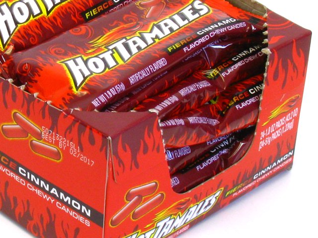 Hot Tamales - 1.8 oz pkg - box of 24