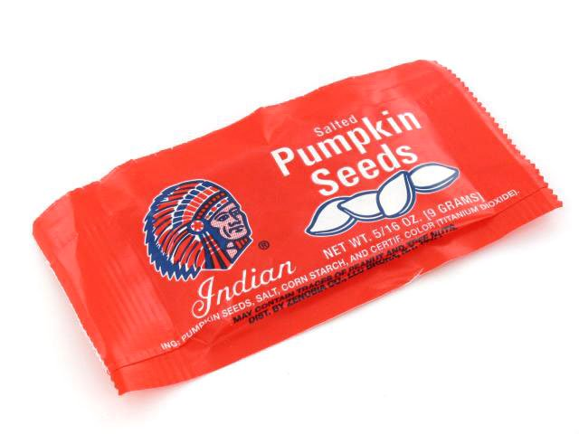 Indian Brand Pumpkin Seeds - 0.3 oz bag - box of 36