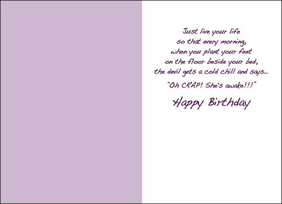 Birthday Card - Instead of Worrying