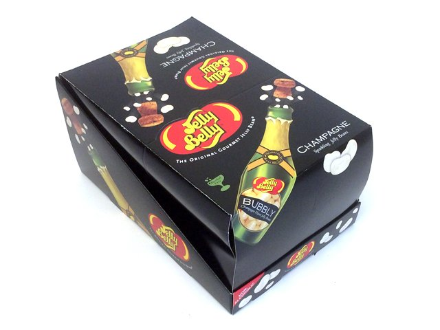 Jelly Belly Champagne Bottles - 1.5 oz - box of 24