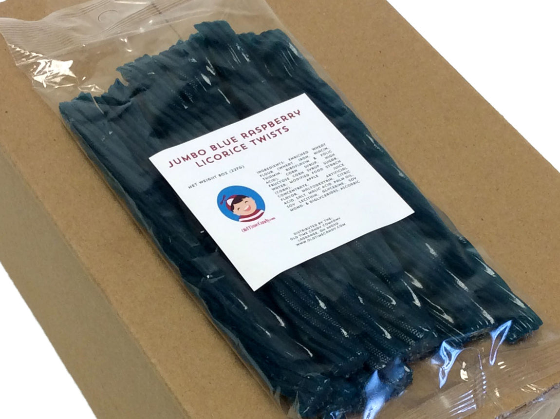 Licorice Twists - blue raspberry - 8 oz bag
