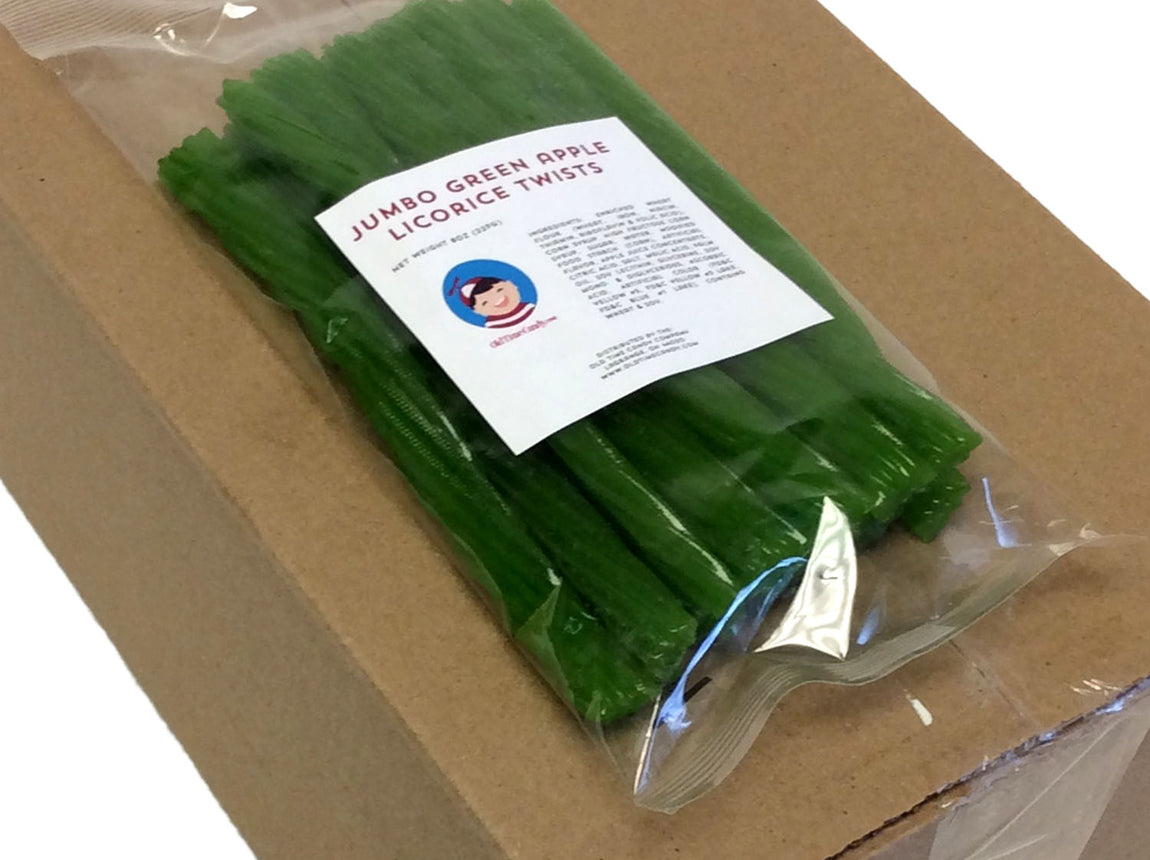 Licorice Twists - green apple - 8 oz bag