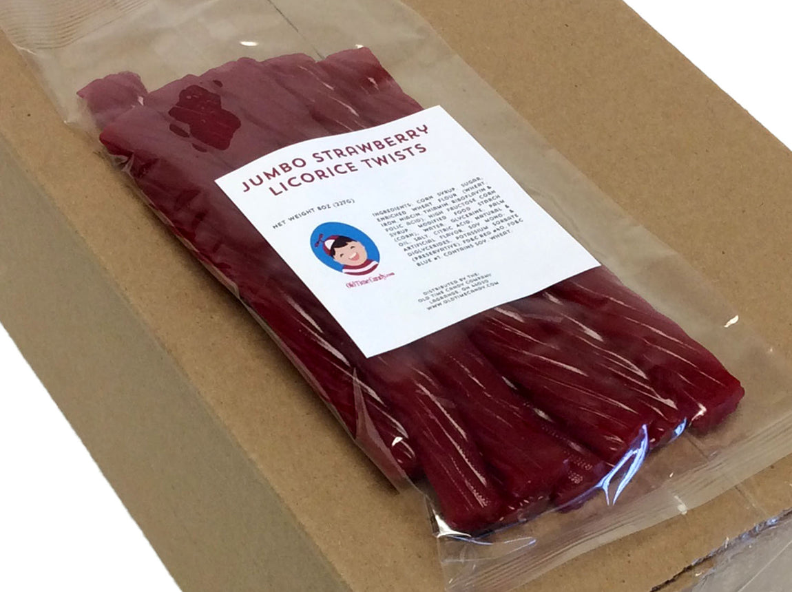 Licorice Twists - strawberry - 8 oz bag