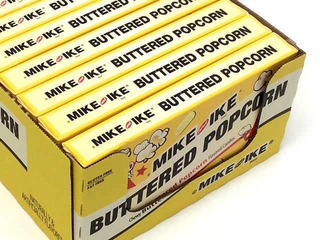 Mike & Ike Buttered Popcorn - 5 oz theater box - case of 12