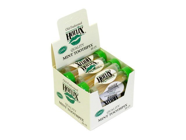 Mint Toothpicks - 0.1 oz tube - box of 20