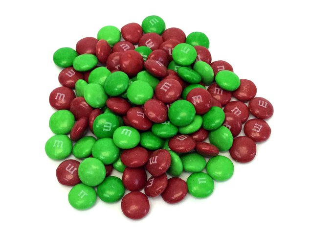 Candy Cane with M&Ms – 12 inch