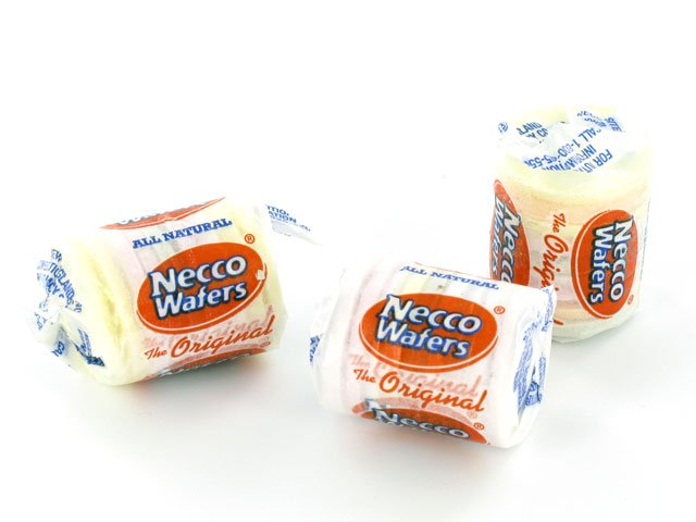 Necco Wafers - Assorted Mini Rolls - 4 lb Plastic Tub (130 ct)