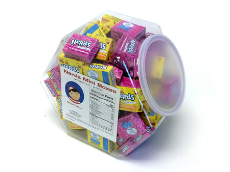 Nerds Mini Boxes - 3 lb Plastic Tub (90 ct)