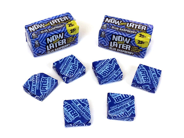 Now & Later - blue raspberry - 0.93 oz pkg - 6-pack