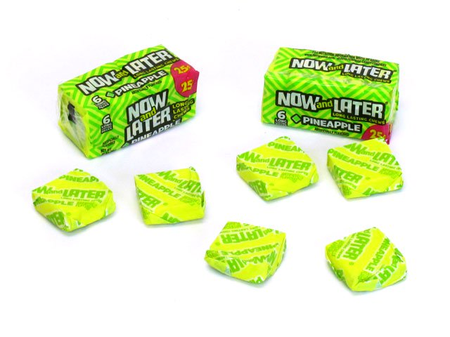 Now & Later - pineapple - 0.93 oz pkg - box of 24