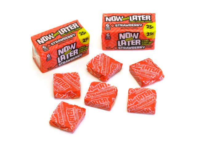 Now & Later - strawberry - 0.93 oz pkg - 6-pack