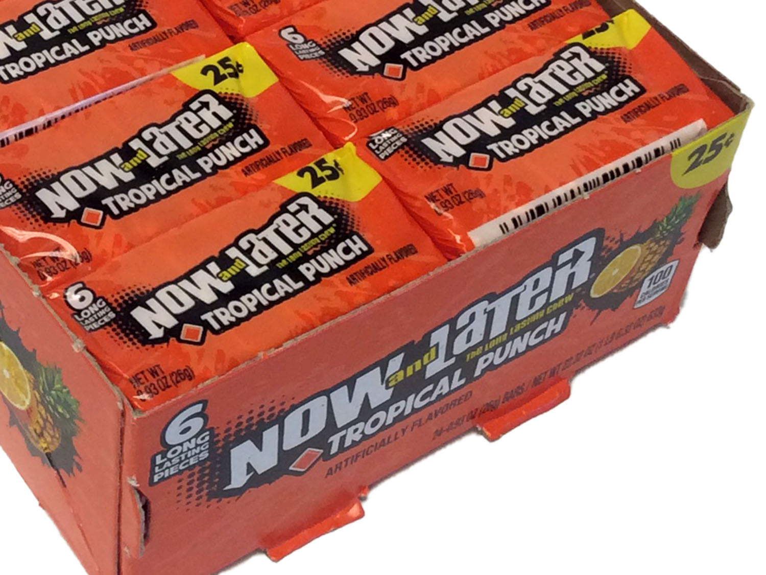 Now & Later - tropical punch - 0.93 oz pkg - box of 24