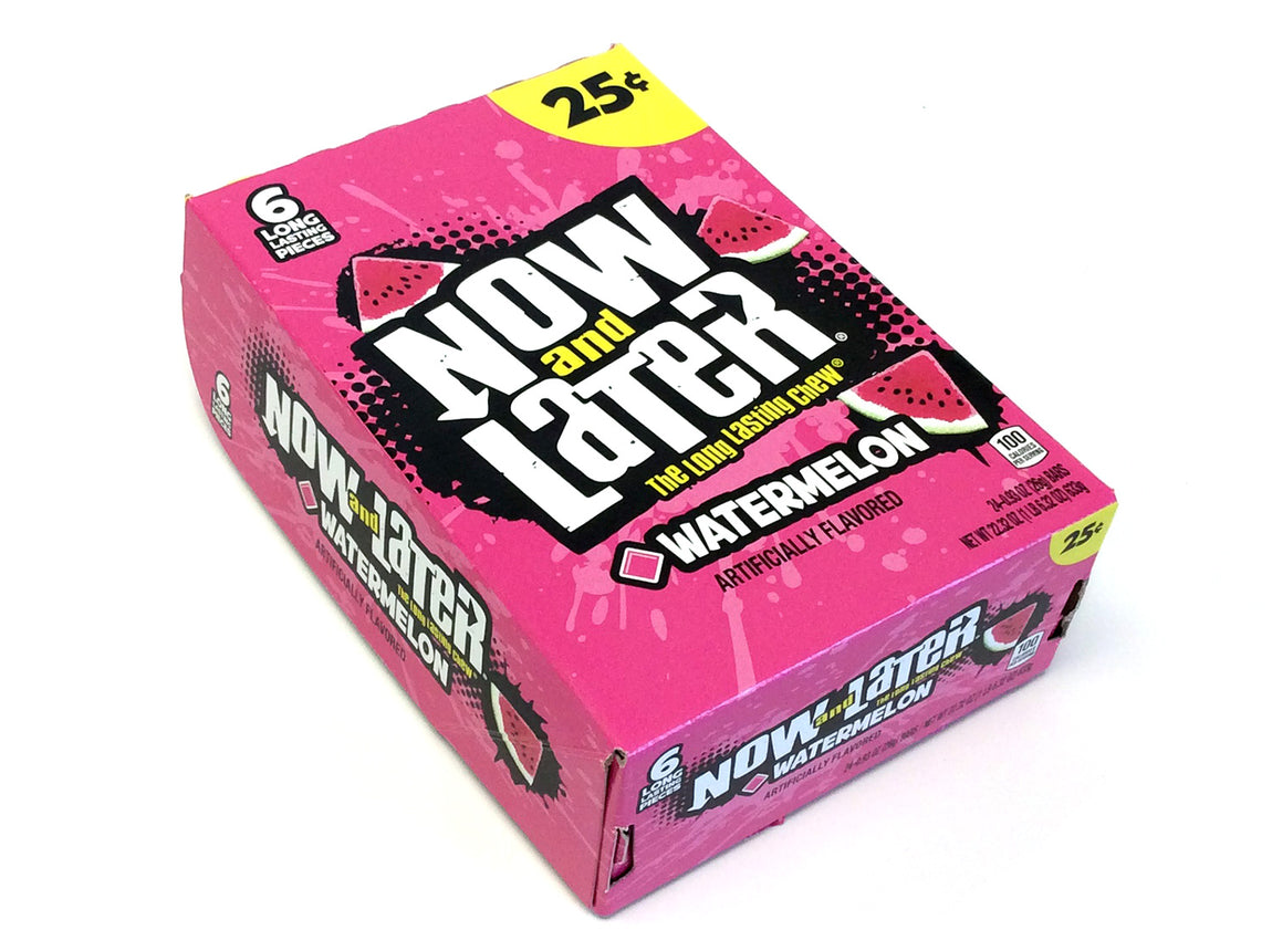 Now & Later - watermelon - 0.93 oz pkg - box of 24