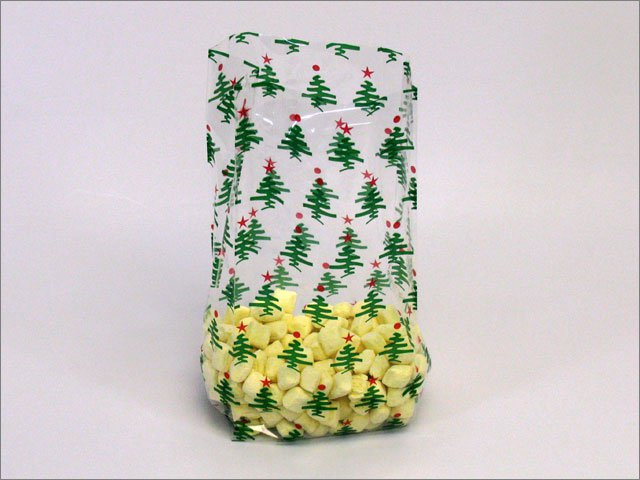 Party Favor Bags - Green Christmas Trees