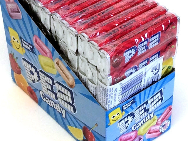 Pez Refill - assorted fruit candy - 6-pack - box of 12