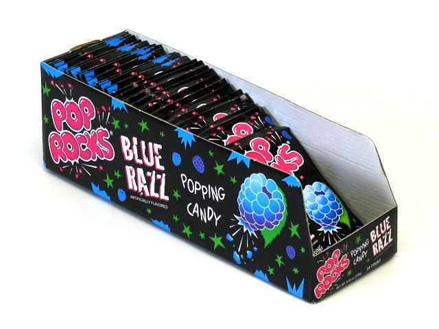 Pop Rocks - blue razz - 0.33 oz pkg - box of 24