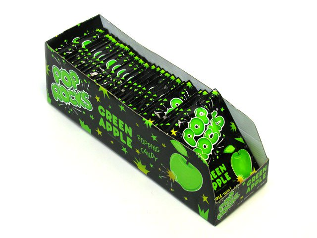 Pop Rocks - green apple - 0.33 oz pkg - box of 24