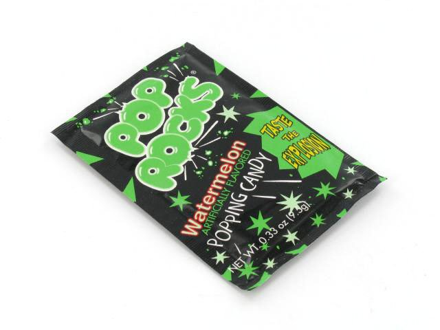 Pop Rocks - watermelon - 0.33 oz pkg - box of 24