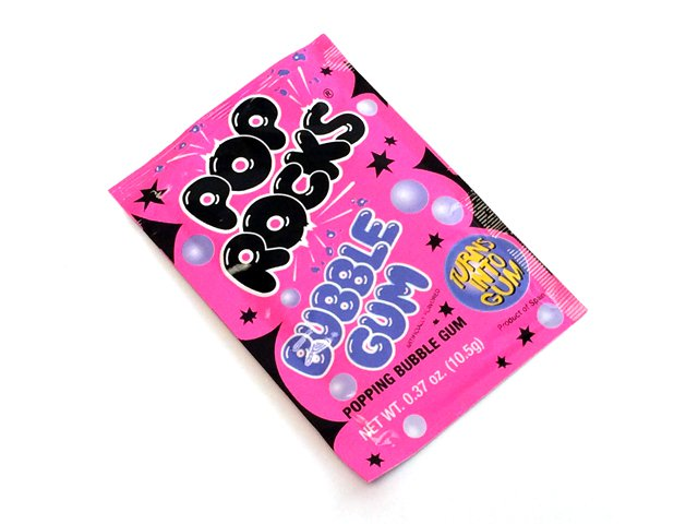 Pop Rocks - bubble gum - 0.37 oz pkg - 1 piece
