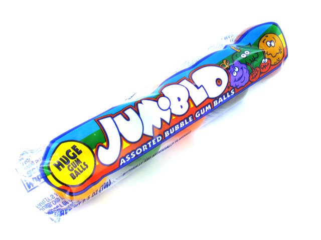 Jum-Blo Bubble Gumballs - tube of 5
