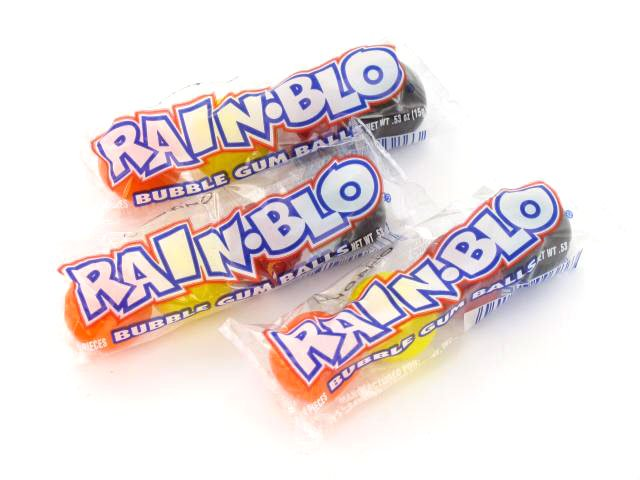 Rain-Blo Bubble Gum - tube of 4 - 1 tube