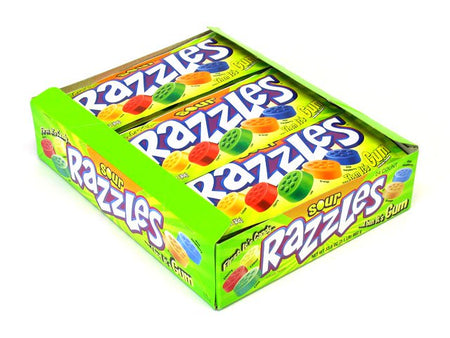 Razzles Sour - 1.4 oz pkg - box of 24