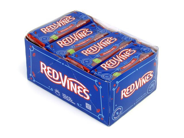 Red Vines Original Red Whips - 2.5 oz bar - box of 24