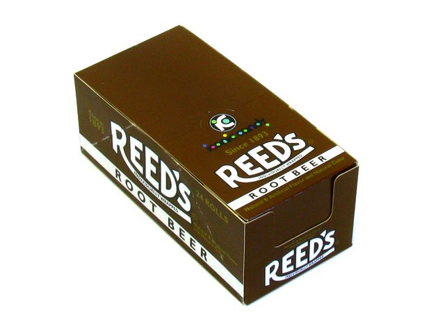 Root Beer Reed's Candy Rolls