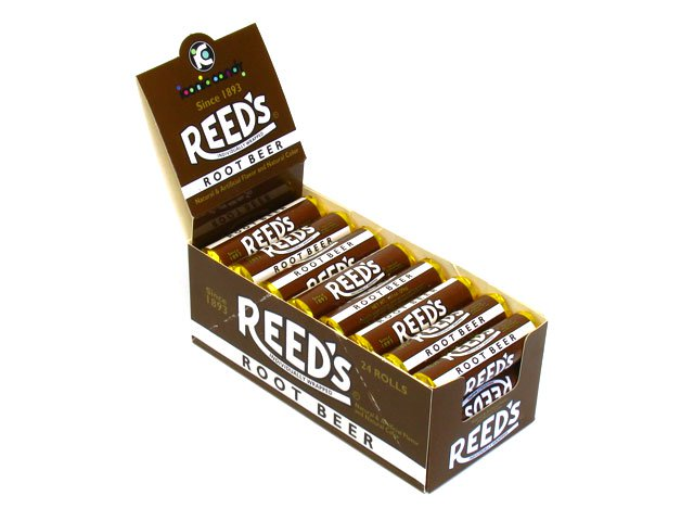 Reed's Candy Rolls - 1.01 oz root beer - box of 24