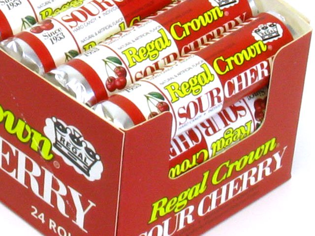 Regal Crown Sour Cherry - 1.01 oz roll - box of 24