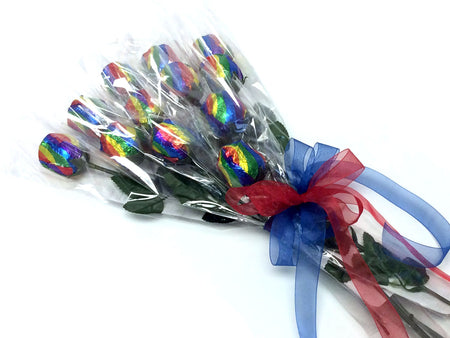 Chocolate Roses Bouquet - rainbow