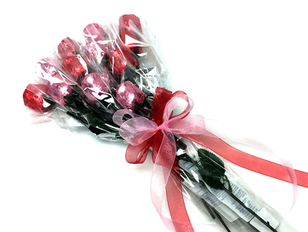 Chocolate Roses Bouquet - red and pink