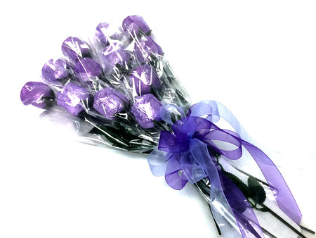 Chocolate Roses Bouquet - purple