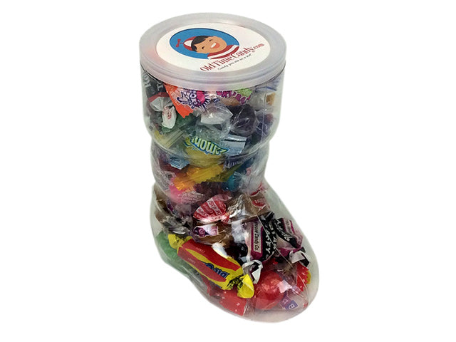 Christmas 6 Inch Santa Boot - Retro Candy Assortment